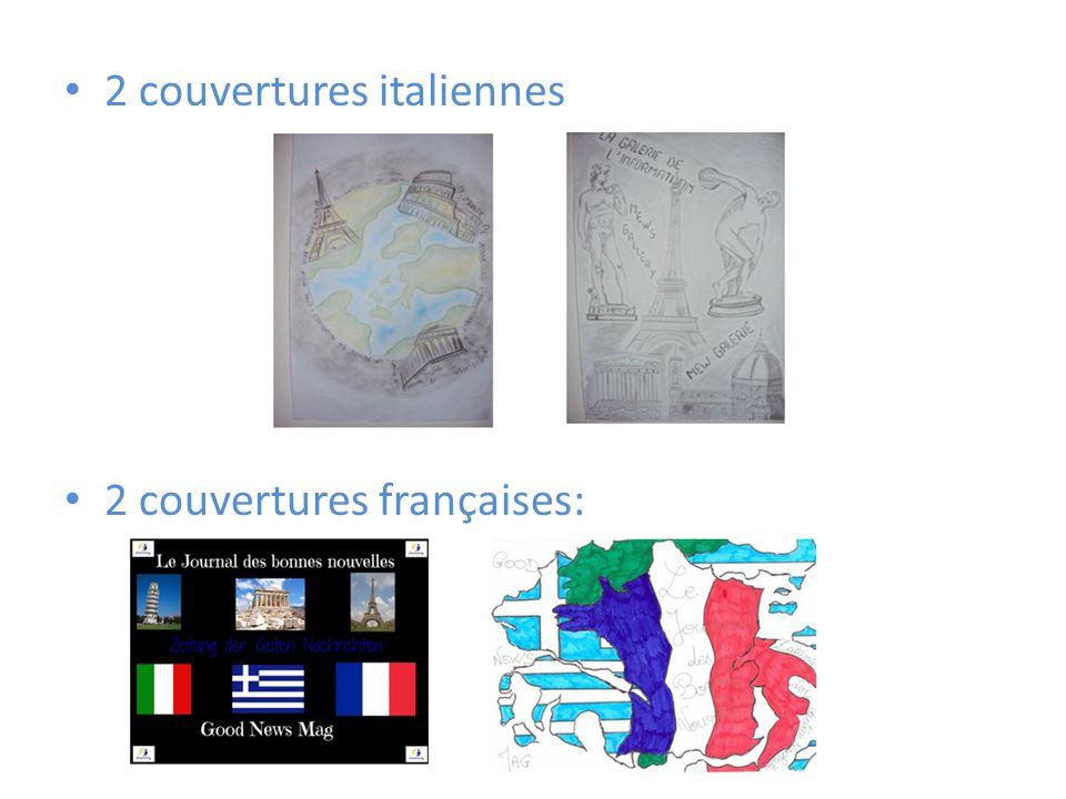2 couvertures italiennes 2 couvertures françaises: