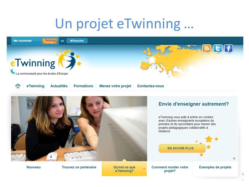 Un projet eTwinning …