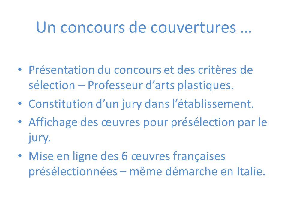 Un concours de couvertures … Présentation du concours et des critères de sélection – Professeur darts plastiques.