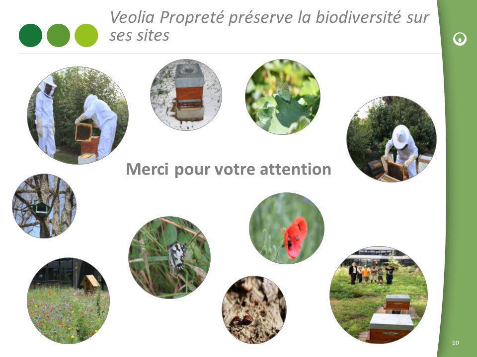 10 Veolia Propreté préserve la biodiversité sur ses sites Merci pour votre attention