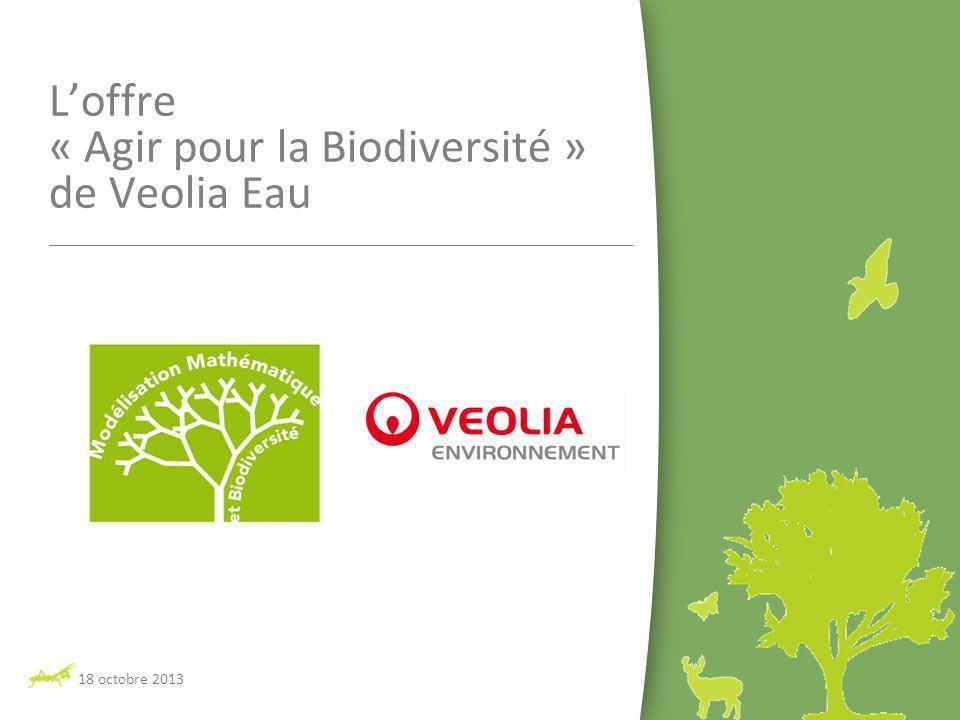 18 octobre 2013 Loffre « Agir pour la Biodiversité » de Veolia Eau