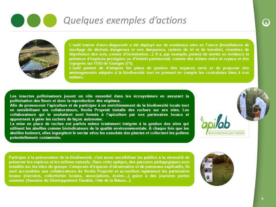 6 Loutil interne dauto-diagnostic a été déployé sur de nombreux sites en France (Installations de stockage de déchets dangereux et non dangereux, cent