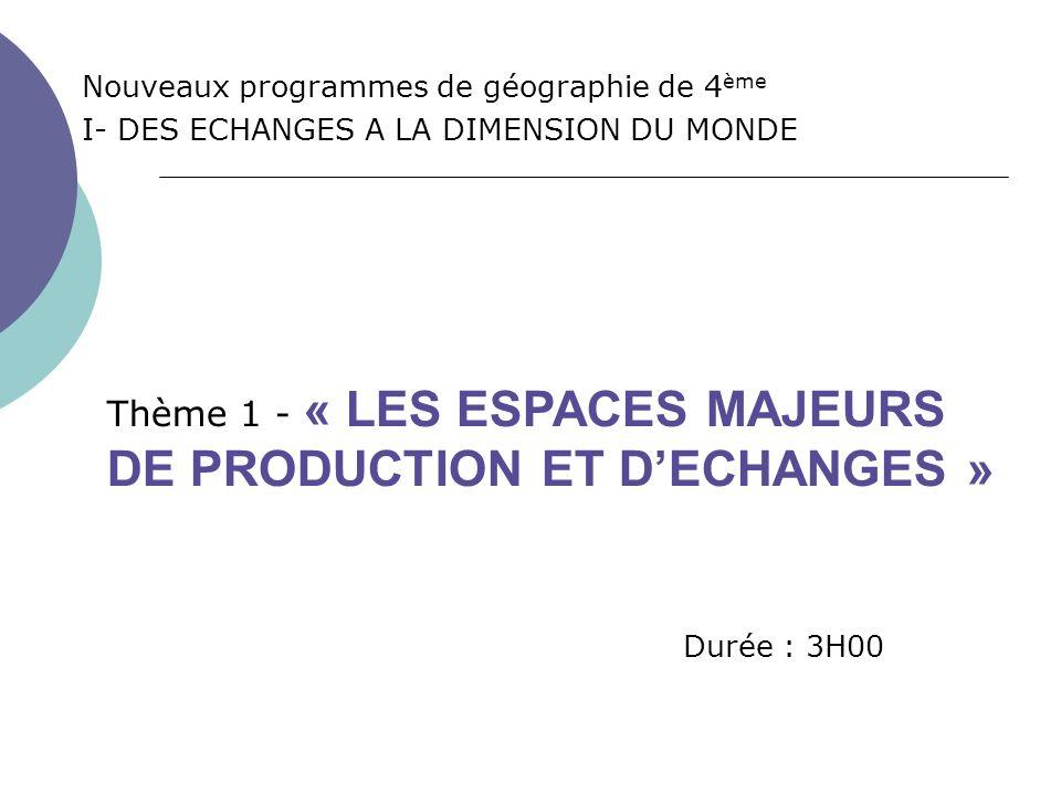 Ce que dit le programme NOUVEAU THEME .cf. carte de synthèse (2 ème partie) cf.