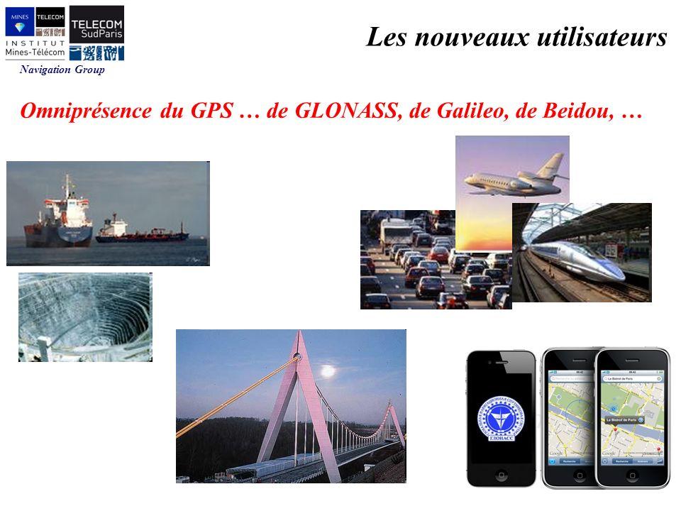 Navigation Group Omniprésence du GPS … de GLONASS, de Galileo, de Beidou, … Les nouveaux utilisateurs