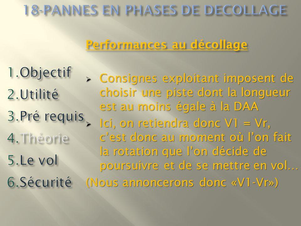 Performances au décollage Consignes exploitant imposent de choisir une piste dont la longueur est au moins égale à la DAA Consignes exploitant imposen