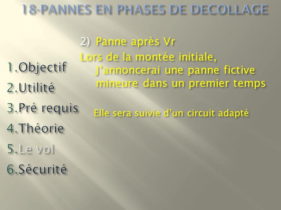 2)Panne après Vr Lors de la montée initiale, Jannoncerai une panne fictive mineure dans un premier temps Elle sera suivie dun circuit adapté