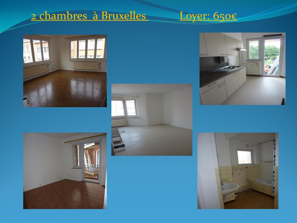 2 chambres à Bruxelles Loyer: 650