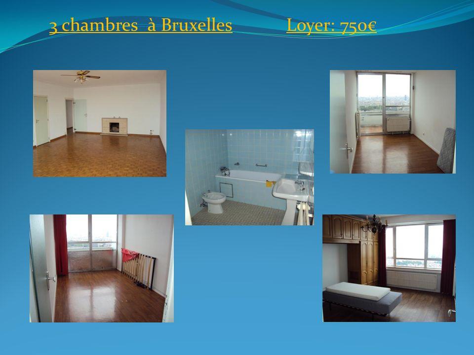 3 chambres à BruxellesLoyer: 750