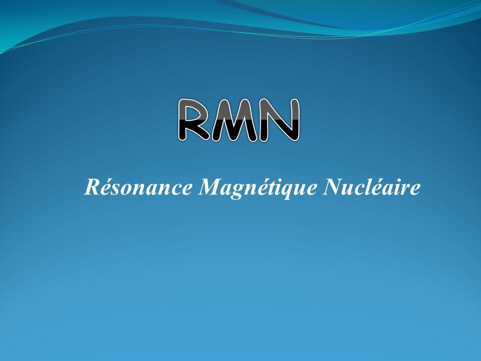 Résonance La fréquence de résonance dépend de B 0, et du noyau étudié.