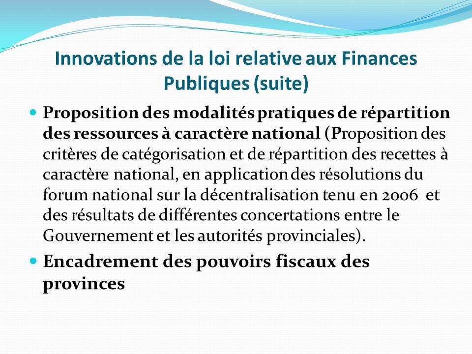 III. Innovations de la loi relative aux Finances Publiques Adoption de lapproche GAR : de la logique des moyens à celle des résultats, (Introduction d