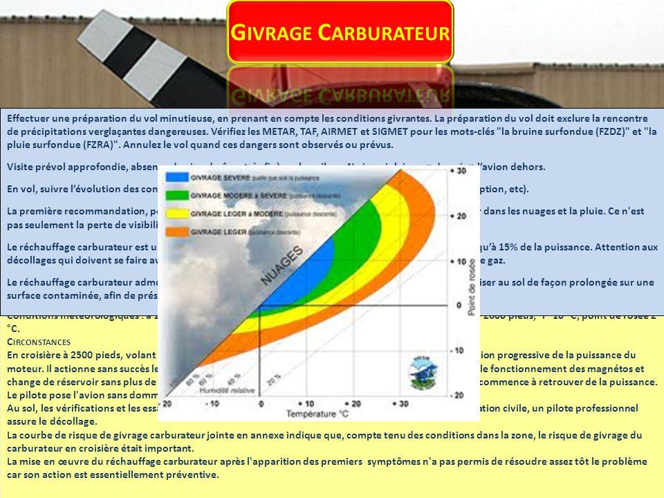 On trouve en particulier le monoxyde de carbone (CO) dans les gaz d échappement de l avion.