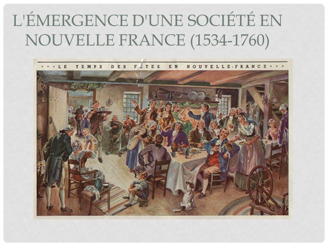 LA SOCIÉTÉ EN NOUVELLE-FRANCE La vie en Nouvelle- France est ardu et difficile.