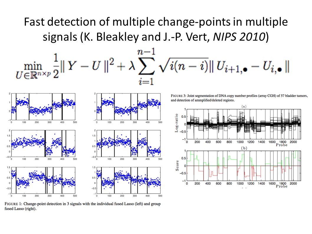 Fast detection of multiple change-points in multiple signals (K.