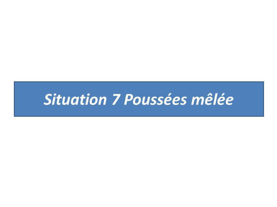Situation 7 Poussées mêlée