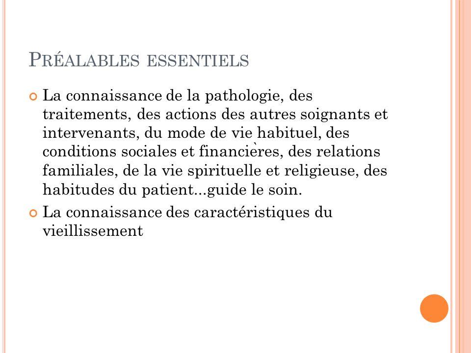 T ROIS CARACTÉRISTIQUES FRÉQUENTES 1.