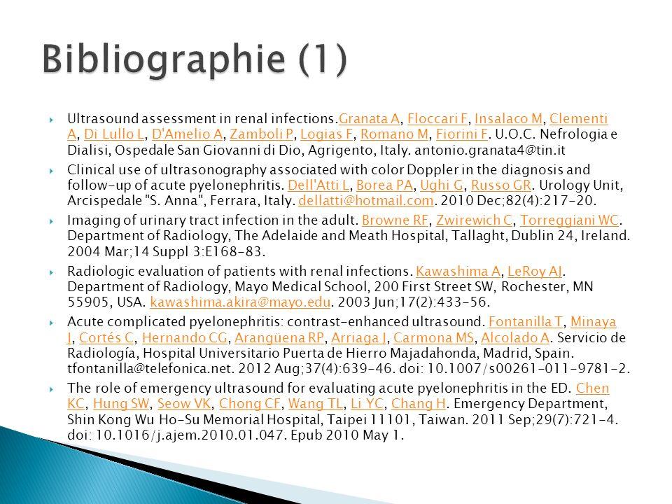 Ultrasound assessment in renal infections.Granata A, Floccari F, Insalaco M, Clementi A, Di Lullo L, D'Amelio A, Zamboli P, Logias F, Romano M, Fiorin