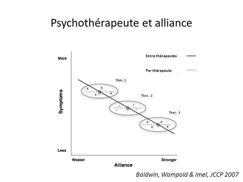 Psychothérapeute et alliance Baldwin, Wampold & Imel, JCCP 2007 Ther.
