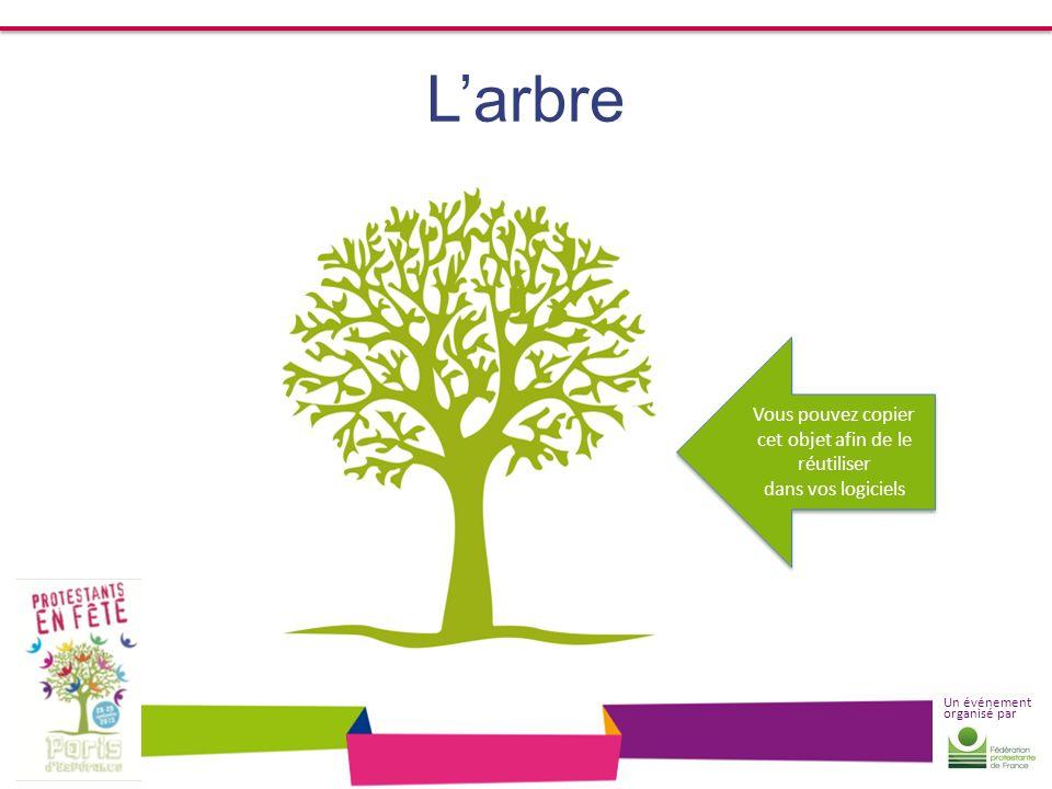 Un événement organisé par Larbre Vous pouvez copier cet objet afin de le réutiliser dans vos logiciels Vous pouvez copier cet objet afin de le réutili