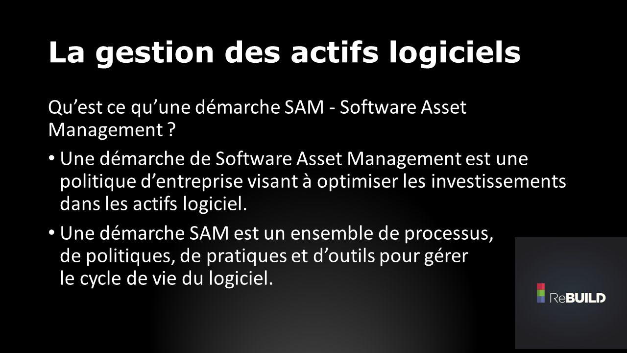 La gestion des actifs logiciels Quest ce quune démarche SAM - Software Asset Management .
