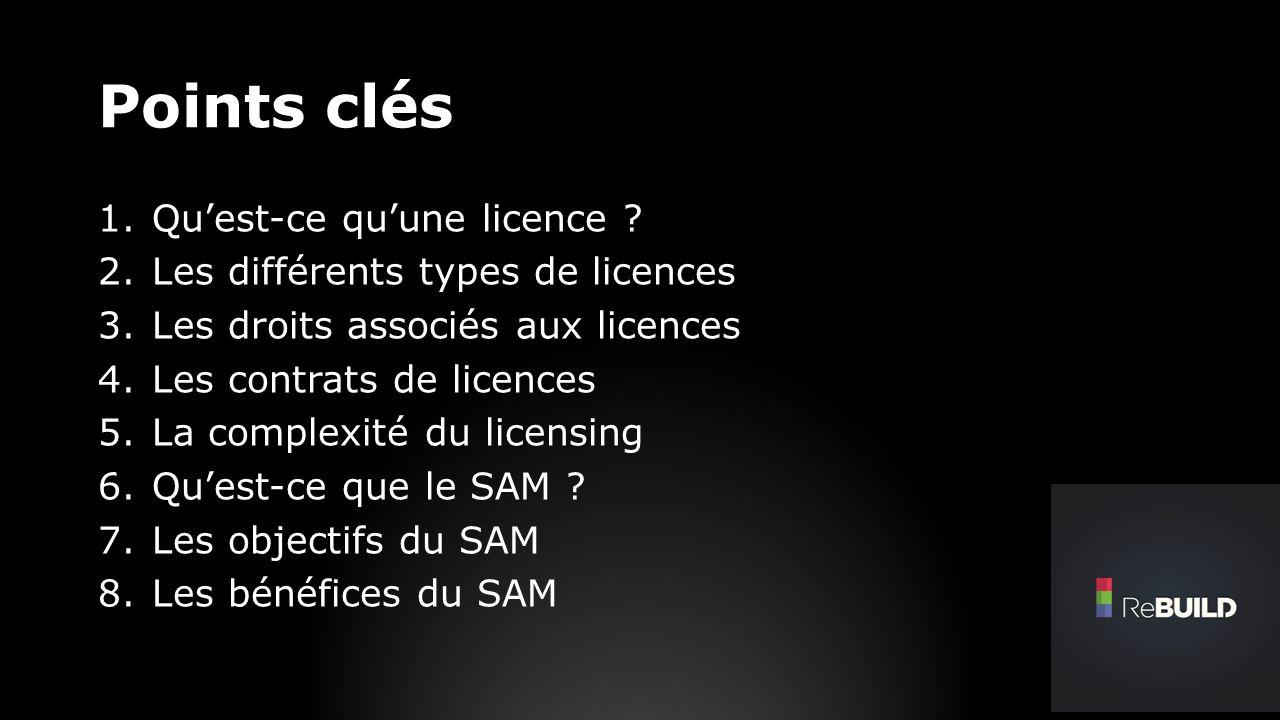 Quest-ce quune licence .Pour pouvoir utiliser un produit logiciel, il faut en avoir le droit.