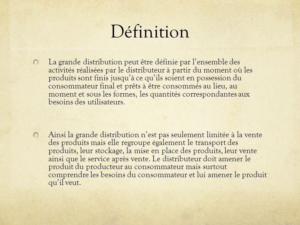 Définition En France certaines conditions ont favorisées lapparition de la grande distribution et de tout commerce moderne que lon connaît aujourdhui.