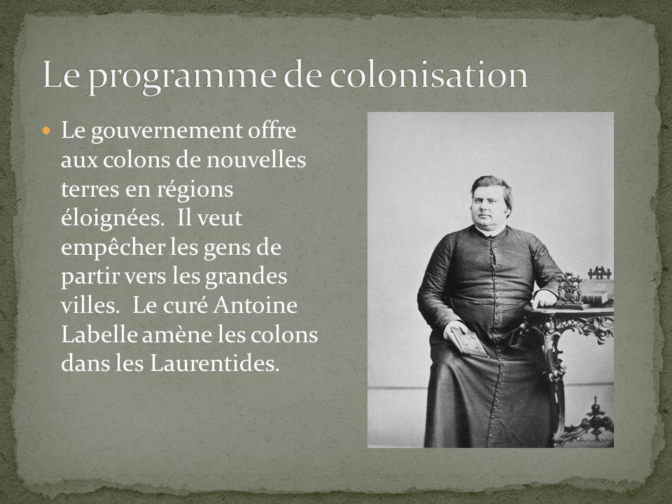 La vallée du Richelieu se spécialise en pomiculture et dans la région du Nord dans les bûcherons.