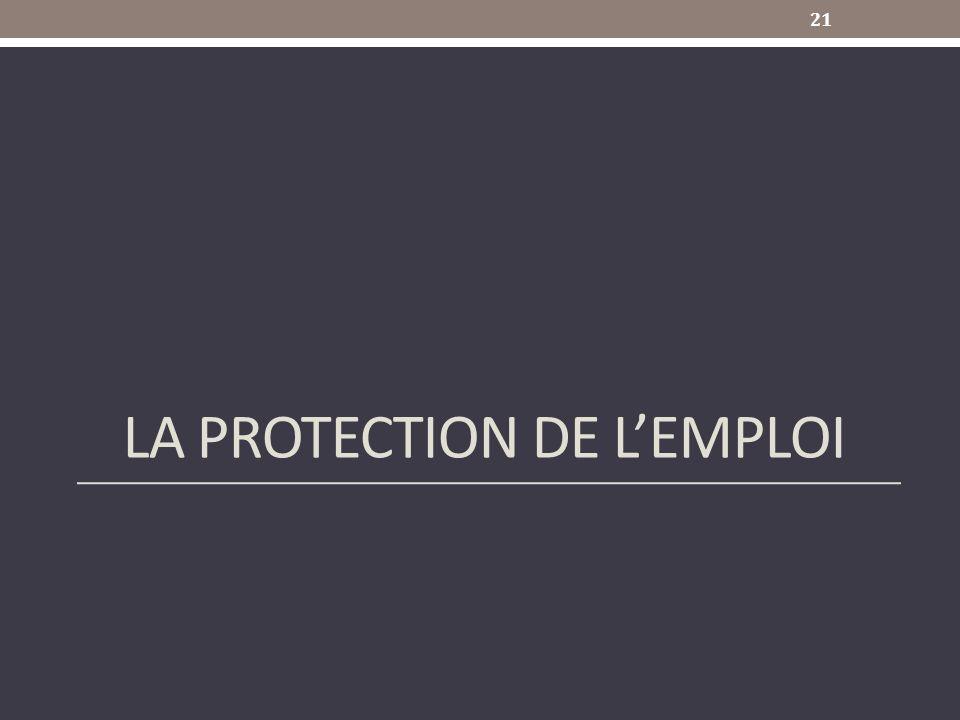 LA PROTECTION DE LEMPLOI 21