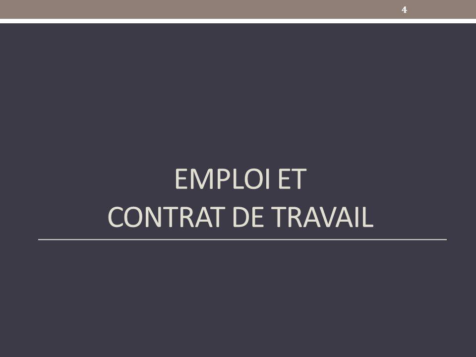 EMPLOI ET CONTRAT DE TRAVAIL 4