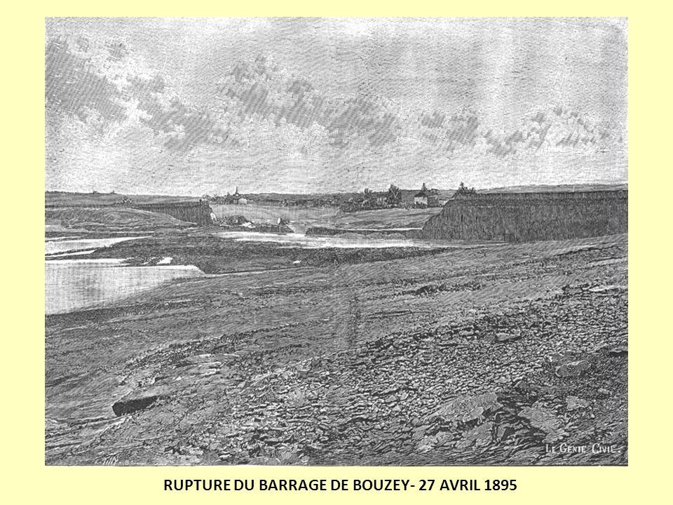 RUPTURE DU BARRAGE DE BOUZEY- 27 AVRIL 1895