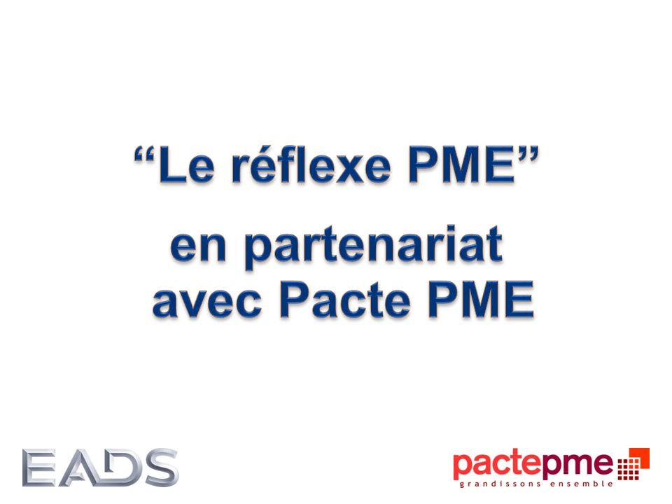 Approche collaborative avec les PME 2010- 2014 : Déploiement en Ile-de-France Charte de fonctionnement avec 100 engagements respectifs Amélioration centrée sur la qualité, la performance opérationnelle et la relation PME/ASTRIUM Partenaires 2013-2015 : Extension du projet aux régions Midi-Pyrénées et Aquitaine