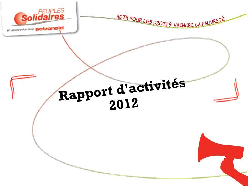 Peuples Solidaires et ActionAid en 2012