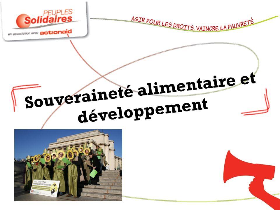 Souveraineté alimentaire et développement