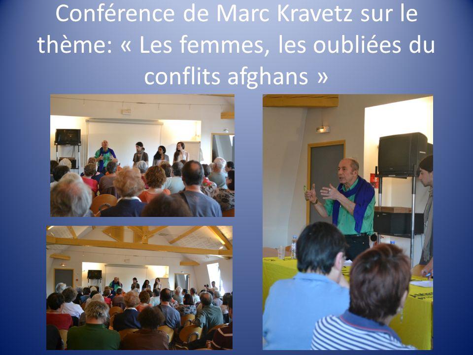 Conférence de Marc Kravetz sur le thème: « Les femmes, les oubliées du conflits afghans »