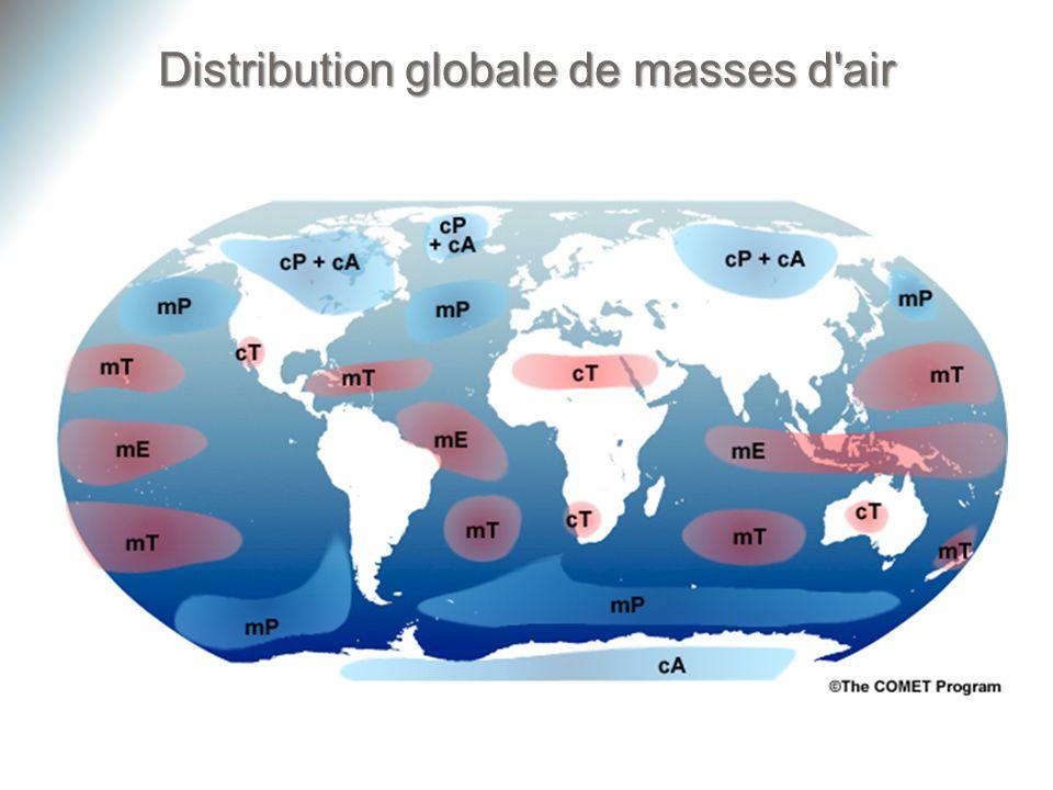 Distribution globale de masses d'air