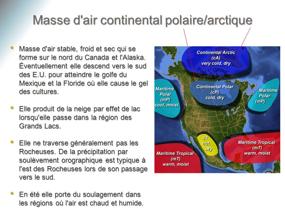 Masse d'air stable, froid et sec qui se forme sur le nord du Canada et l'Alaska. Éventuellement elle descend vers le sud des E.U. pour atteindre le go