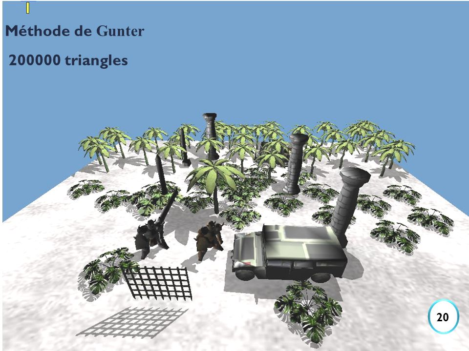 Méthode de Gunter 200000 triangles 20