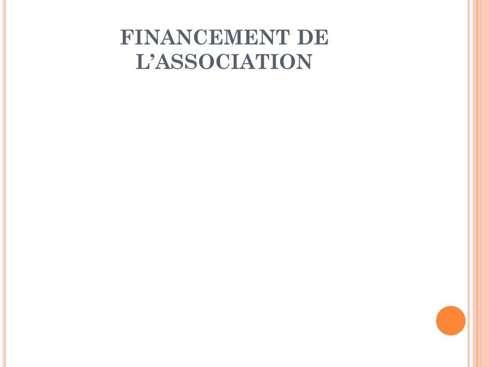FINANCEMENT DE LASSOCIATION