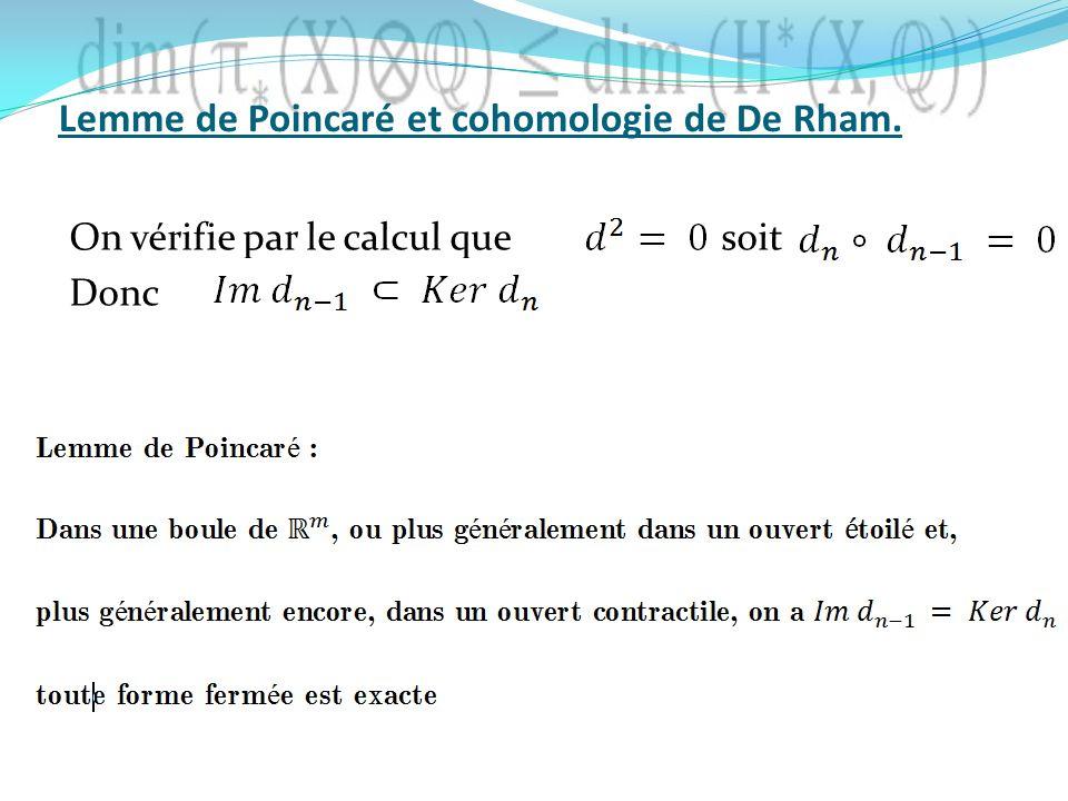 On vérifie par le calcul que soit Donc Lemme de Poincaré et cohomologie de De Rham.