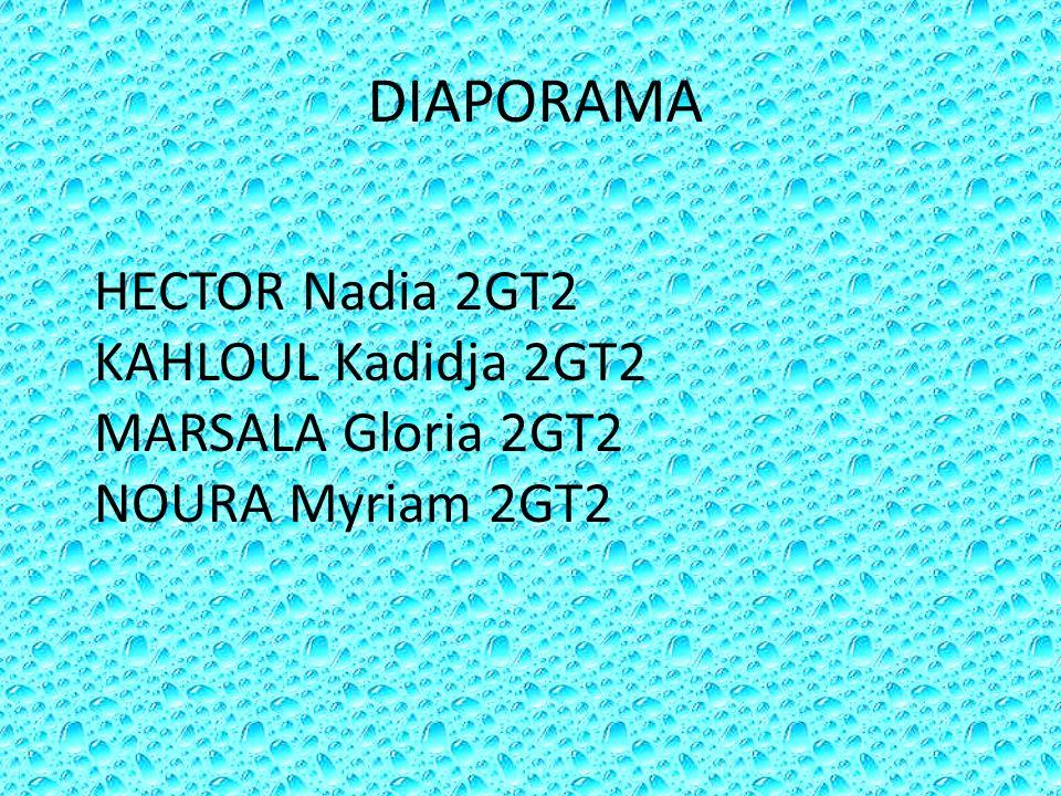 DIAPORAMA HECTOR Nadia 2GT2 KAHLOUL Kadidja 2GT2 MARSALA Gloria 2GT2 NOURA Myriam 2GT2