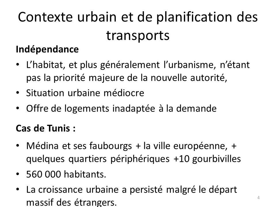 Contexte urbain et de planification des transports Indépendance Lhabitat, et plus généralement lurbanisme, nétant pas la priorité majeure de la nouvel