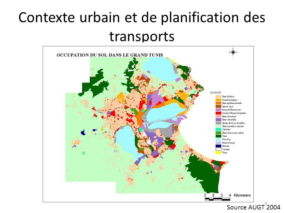 Contexte urbain et de planification des transports Un réseau routier « hérité » dans les parties centrales, difficile à réaménager Multifonctionnalité et encombrement des voies existantes 7
