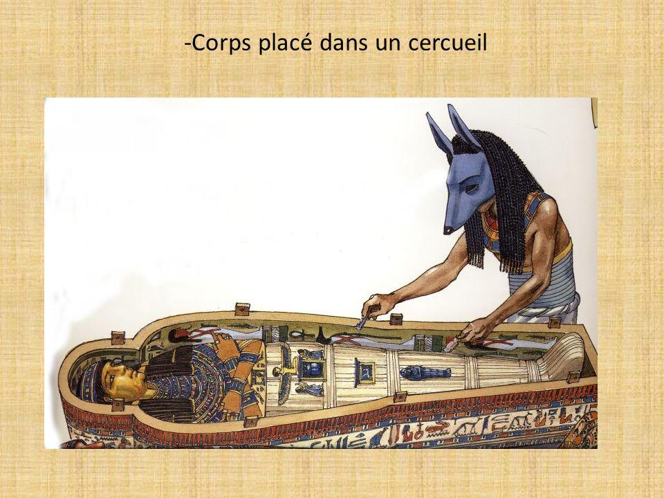 -Corps placé dans un cercueil