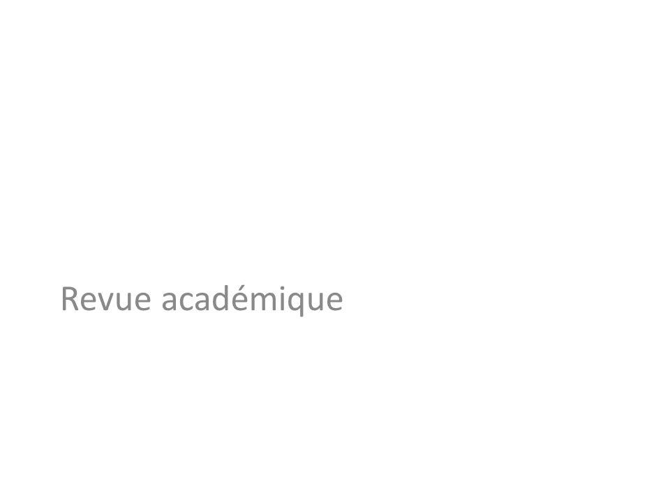 Revue académique