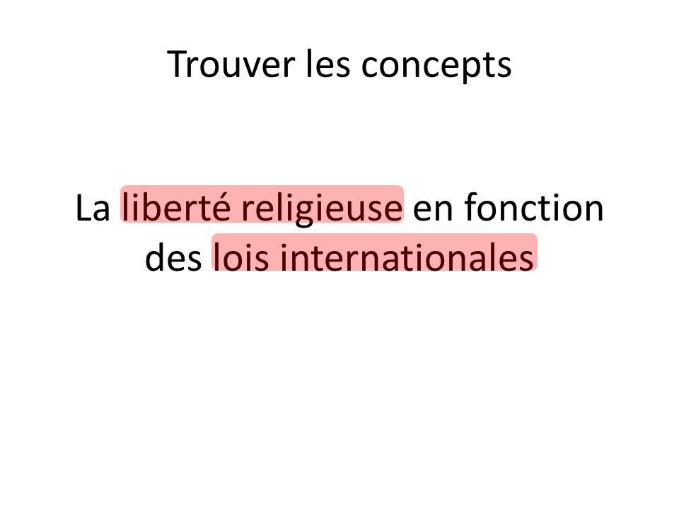 Trouver des synonymes Exemple: – Liberté religieuse: liberté de religion, liberté de culte, freedom of religion, etc.
