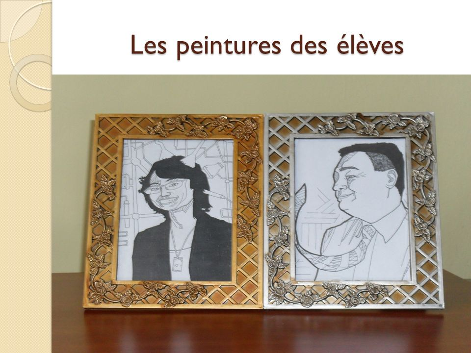 Les peintures des élèves