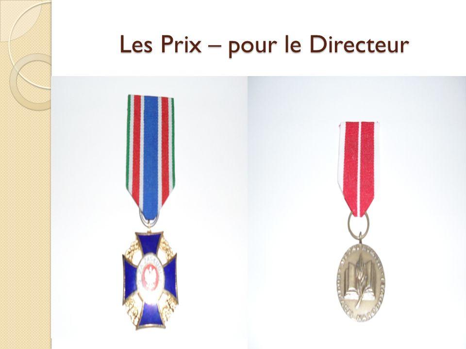 Les Prix – pour le Directeur