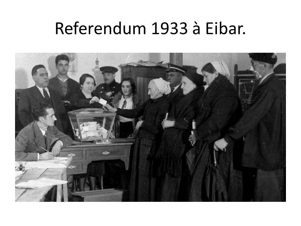 Referendum 1933 à Eibar.