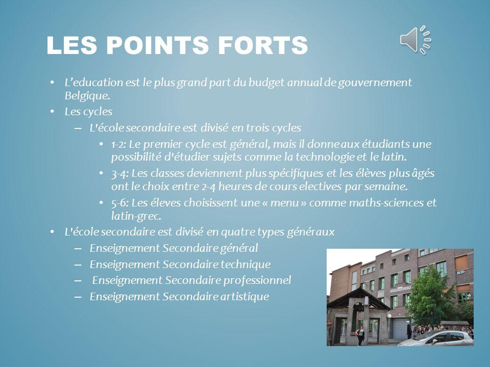 Leducation est le plus grand part du budget annual de gouvernement Belgique.