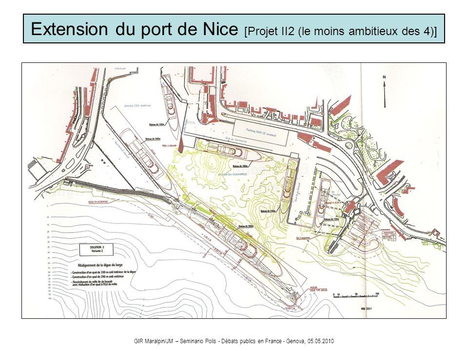 GIR Maralpin/JM – Seminario Polis - Débats publics en France - Genova, 05.05.2010 Extension du port de Nice [Projet II2 (le moins ambitieux des 4)]