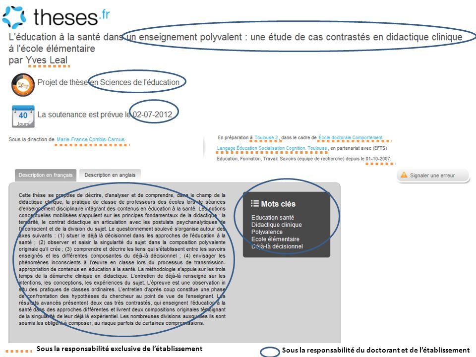 En amont, STEP pourra être alimentée par les établissements de soutenance par import des données présentes dans leur logiciel de gestion administrative des doctorants par mail ou par webservices AMUE : partenariat avec lABES pour que le module Thèses dAPOGEE soit nativement interconnectée avec STEP ADUM : partenariat avec lABES pour publier les thèses en préparation sur theses.fr en utilisant STEP comme « boîte noire » Journées ABES – 20 juin 2012 5.